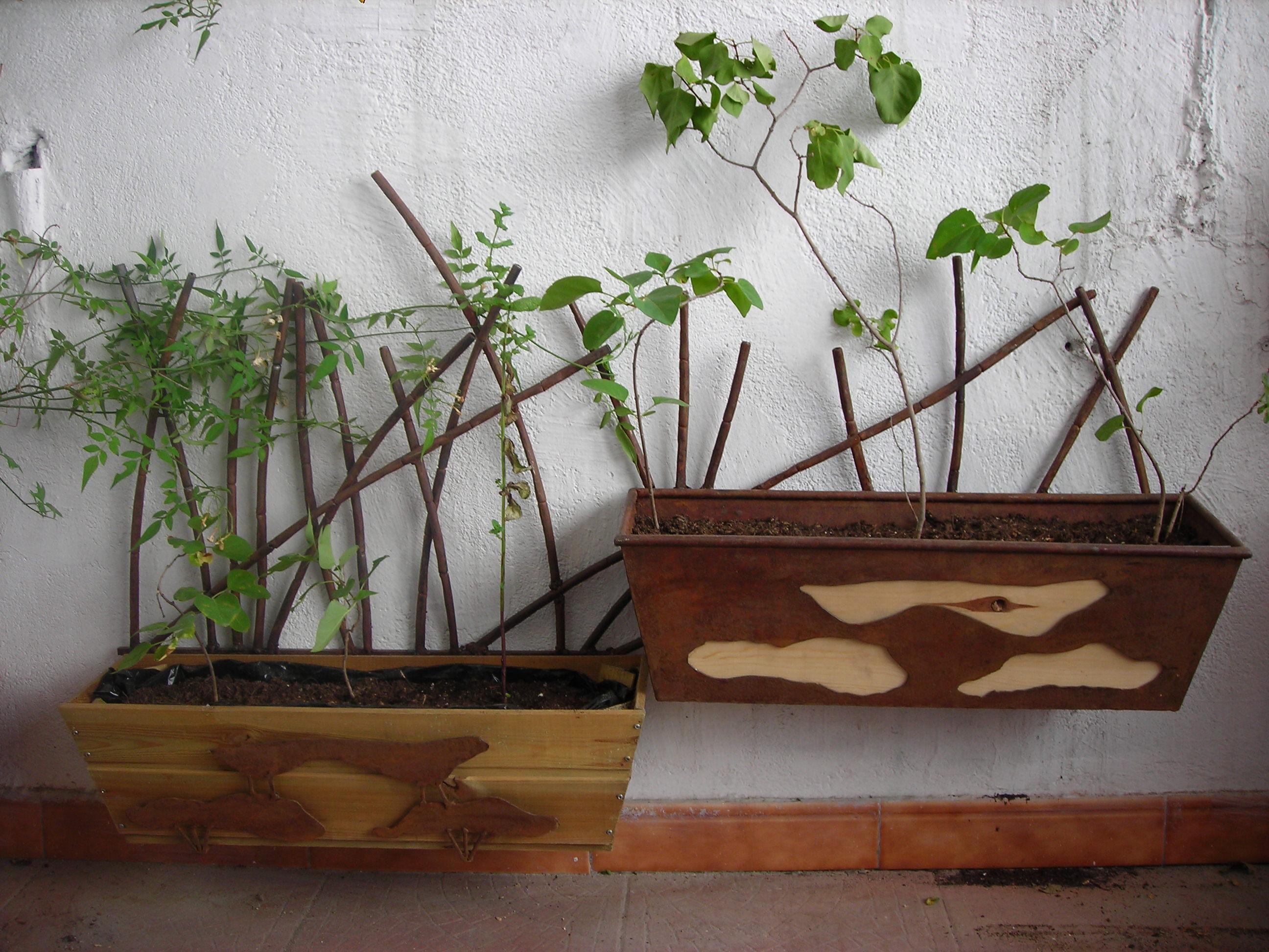 Artes aplicadas - Jardineras de obra exterior ...